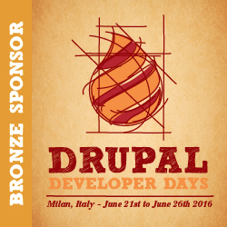 Drupal Developer Days 2016 - Bronze Sponsor
